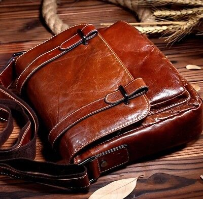 New Men's Genuine Leather Vintage Briefcase Handbag Messenger Shoulder Bag