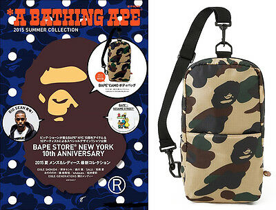 Brand New A Bathing Ape Bape Green 1ST Camo Body Bag From Japan Magazine