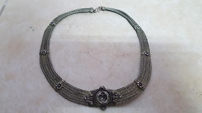 rare Antique OLD afghan? jewelry Hand Made Ethnic Tribal  copper Chain Necklace