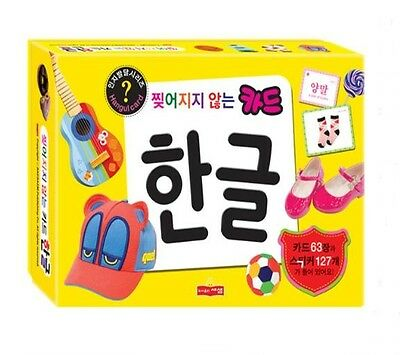 Korean Language Study Card Basic Word Hangul Learning Flash Cards Stickers Set