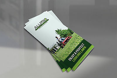 1000 Full Color Lawn & Landscape Brochures
