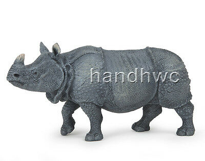 Papo 50147 Indian Rhinoceros Model Animal Figurine Replica Toy Rhino - NIP