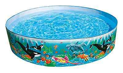 Swimming Kiddie Pool Above Ground Snap Set Plastic Kid Summer Water Garden