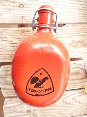 Ancienne Gourde Rouge 1 litre  - Tournus Le Grand Tetras Made in France /C22