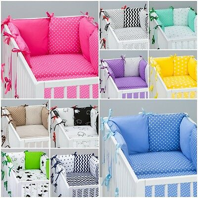 8 pcs COT / COT BED  BEDDING SET PILLOW BUMPER + PILLOW CASE + DUVET COVER