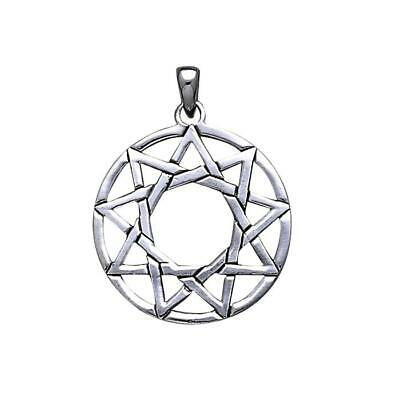 Pagan Wicca Ninefold Star .925 Sterling Silver Pendant by Peter Stone