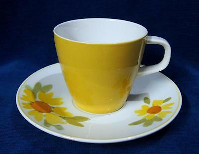 A Retro Mikasa Japan DOLLY Yellow Cup and Saucer Classic 70's Design