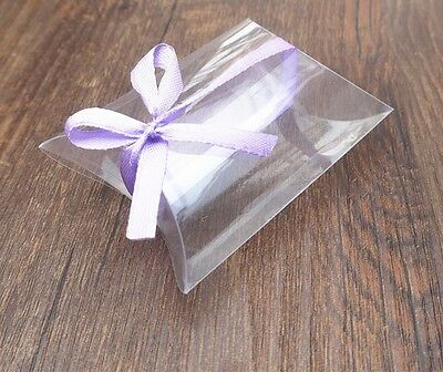 10 Clear PVC Pillow Gift boxes - Baby Shower Wedding Party Supplies