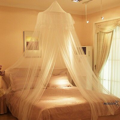 New White Round Lace Insect Bed Canopy Netting Curtain Dome Mesh Mosquito Net