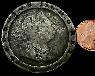 R264: 1797 George III Copper Cartwheel TWOPENCE - huge!