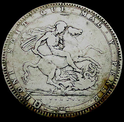 R268: 1820 George III Large Silver Crown