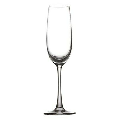 New Casa Domani Salute Flute Champagne Glass 210ml Set of 6 Gift Boxed