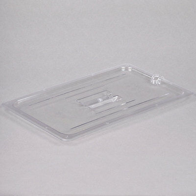 Full Size Clear Plastic Polycarbonate Food Pan Lid with Spoon Notch and Handle