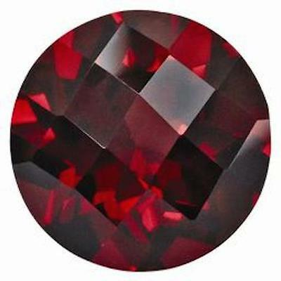 Lab Created Hydrothermal Red Ruby Round Checkerboard Loose stone (4mm - 13mm)