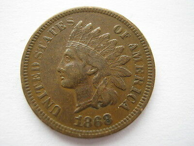 United States 1868 Indian Head Cent NVF