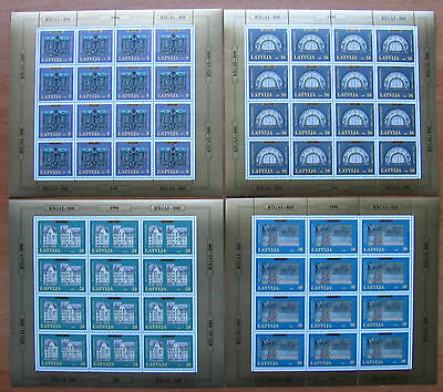 "Latvia - 1996 ""Riga's 800th Anniversary"" Sheets (MNH)"