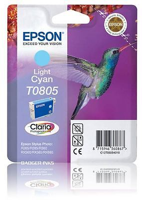 T0805 Light Cyan Original Printer Ink Cartridge TO805 C13T08054011 Hummingbird
