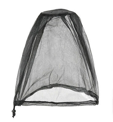 Mesh Polyester Mosquito Head Net Grey With Carry Bag - Compact and lightweight -