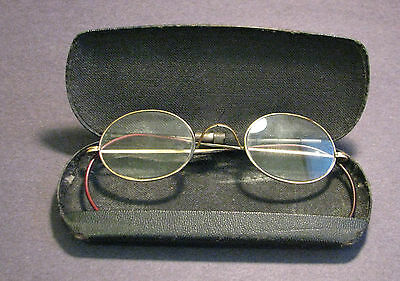 Antique Gold Filled Glasses with Case Shur-On