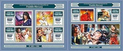 Z08 IMPERFORATED TG16111ab TOGO 2016 Freddie Mercury MNH Set