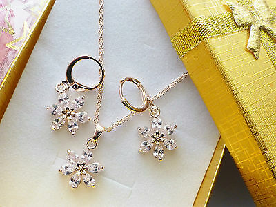 gold filled Necklace Earings set or one giftbox or pouch ladies teenager womens