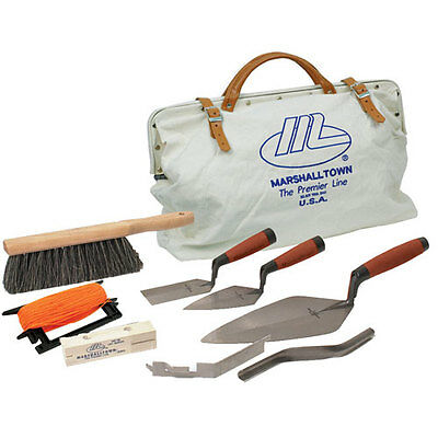 Marshalltown 15901 Bricklayer Apprentice Tool Kit with Canvas Bag