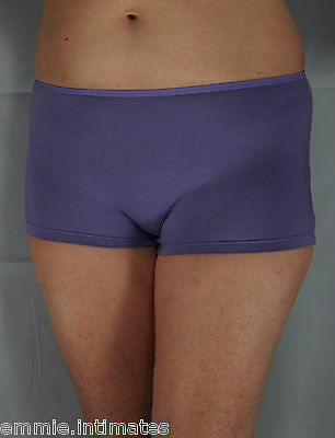 Emmie Modal Briefs Plus Sizes 14 to 40 Womens Shortie Cotton Mauve Pants Panties