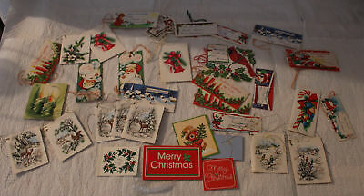 Vintage Christmas Gift Tags Used Nice Lot 34 Some Are Little Cards