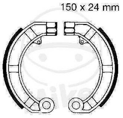 EBC Brake Shoes Brake Shoe V903 Front Rear Piaggio / Vespa PK 50 XL