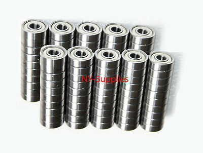 LOT OF 200 Pcs of Ball Bearings 608ZZ Skateboard / inline / hockey +100