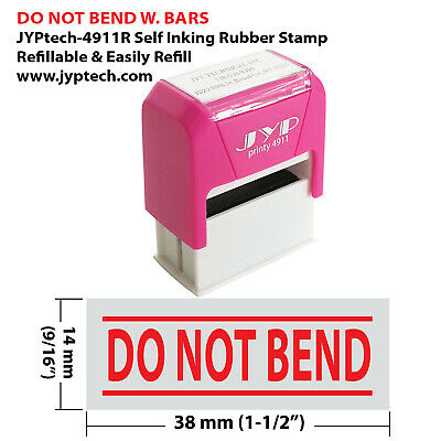 "New JYP PA2060 Pre-Inked Rubber Stamp with ""Do Not Bend"""