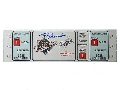 Tom Lasorda Signed 1988 World Series Ticket, Dodgers, Tommy,WS,Autographed,Proof