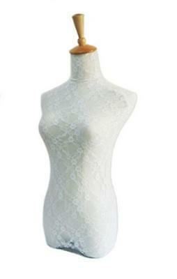 New White Lace Fabric Halfbody Mannequin Cover Model Dummy Top Cover
