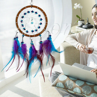 Car Wall Hanging Decoration With Feathers Turquoise Beads Dream Catcher Ornament