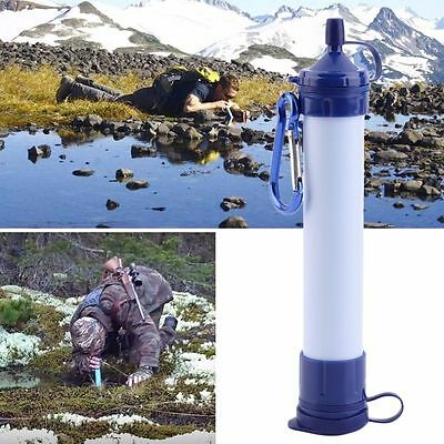 Portable Mini Personal Water Filter For Outdoor Emergency Survival Gear Hiking