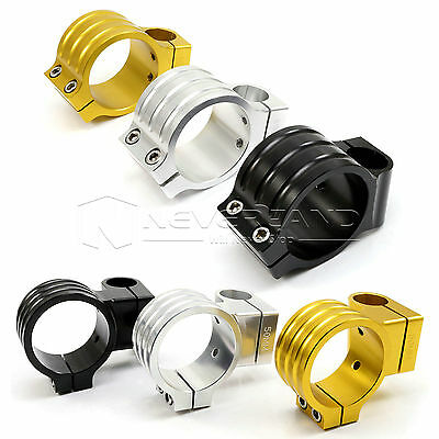 """7/8"""" 33/35/43/50mm Fork Clip On ons HandleBars Head CNC Riser Normal Motorcycle"""