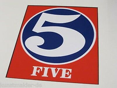 ROBERT INDIANA - NUMBERS. Number five. VINTAGE PRINT