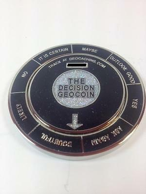 SPINNING The Decision Maker Geocoin Trackable - Black