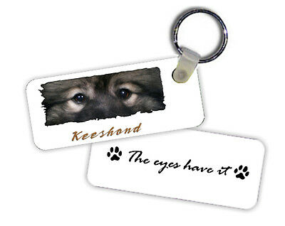 Keeshond   The  Eyes Have It   Key  Chain