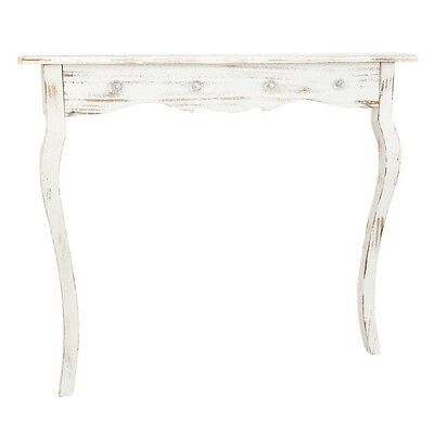 Console etroite shabby chic 4 boutons style romantique - Neuf