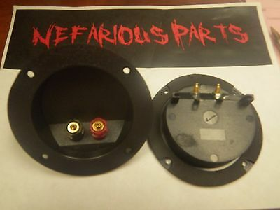 "4"" Outside Diameter 3"" Hole Diameter Sub or Subwoofer Box Terminal Cup"