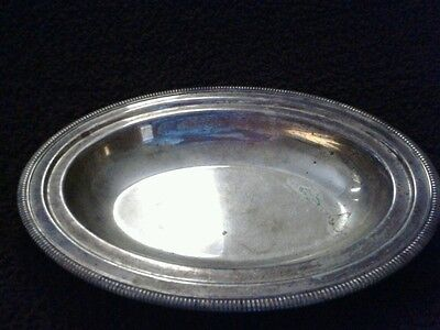 CANDY DISH Platter Bowl Silver-Plated Vintage Patina FREE SHIP!