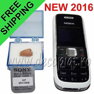 Spy Mobile Phone Nokia and Micro Earpiece Wireless Hidden Covert Earphone Exam