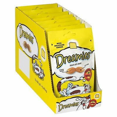 Dreamies Cat Treats Cheese 60g Pack of 8