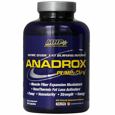MHP ANADROX Pump & Burn Nitric Oxide Fat Burning Inferno 112 ct or 224 ct Size