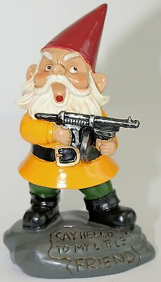 GARDEN GNOME ANGRY LITTLE NAUGHTY GNOME SAY HELLO TO MY LITTLE FRIEND 21cm Cute*