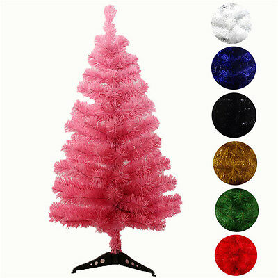 Artificial white red green Christmas Tree 2FT 3FT 7colors free shipping