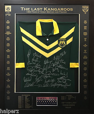 Blazed In Glory - 1994 Kangaroo Tour - NRL Signed & Framed Jersey