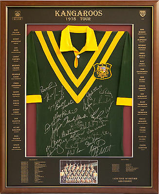 Blazed In Glory - 1978 Kangaroo Tour - NRL Signed and Framed Jersey