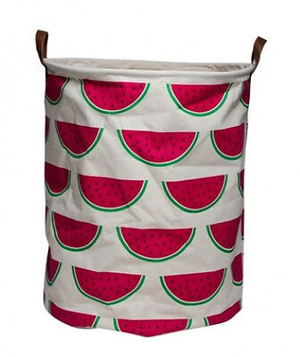 NEW EDC Canvas Storage Basket Laundry Hamper - Watermelon - For Toys Clothes